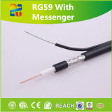 Kabeltelevisie Coaxial Cable Rg59 met Messenger