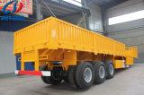 3 Aanhangwagen van de Vrachtwagen van de Lading van het Nut van de Container van assen Flatbed