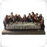 Großverkauf kundenspezifische Polyresin fromme Jesus Statue (IO-ca025)