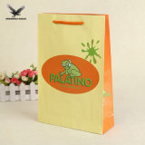 花デザイン緑の布のペーパーショッピング・バッグはカスタマイズした