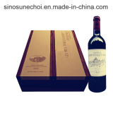 Boîte en bois non fini de haute qualité pour le vin rouge