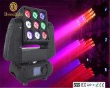 3X3 9pcsx10W LED RGBW 4en1 secouer la tête de lumière de la matrice