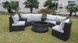 Mobilia circolare esterna del sofà del rattan di disegno del patio di svago del giardino del salotto elegante dell'hotel