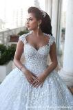 Le lacet nuptiale arabe de robe de bille fleurit la robe de mariage en cristal de luxe G1782
