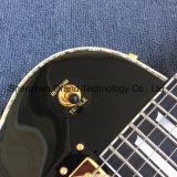 Custom Lp ormeaux de guitare électrique du système d'ébène incrusté poutre Tremolo (BPL-700)