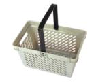 Panier à provisions en plastique de supermarché de traitement