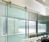 曇らされる中国の最もよく平らな端緩和されたオフィスのドアガラスの卸売を滑らせる