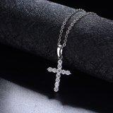 Spitzenverkaufs-China-Fabrikzircon-Kreuz-hängende christliche künstliche Schmucksache-Halskette