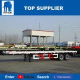 Titan-Fahrzeug - 2 Behälter-Flachbett-LKW-Schlussteil der Wellen-20FT 40FT mit Torsion-Verschluss