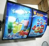 Casella chiara commerciale del LED che fa pubblicità alla scheda del menu