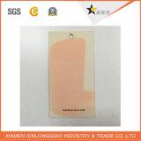 Personalizado de papel de plástico de prendas de vestir Impreso etiqueta de impresión Swing Hang Tag
