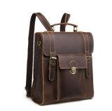 Цена на заводе хорошего качества Crazy Horse коричневого цвета кожи рюкзак для мужчин