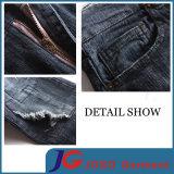 Calças de brim afligidas Destoryed magros elásticas novas para os homens (JC3398)