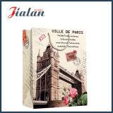 Do presente retro da compra da arquitetura do papel Ivory saco de papel laminado lustroso