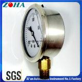 Mesures remplies d'huile de pression hydraulique avec le connecteur de laiton de caisse de solides solubles