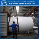 Горизонтальные криогенных жидкий кислород азот аргон резервуар для хранения CO2