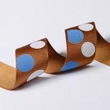 Impreso de poliéster Polka Dot Grosgrain cinta de opciones para envoltura de regalos