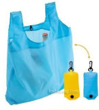 Sac de shopping pliable promotionnel, sac fourre-tout pliable en polyester (HBFB-63)