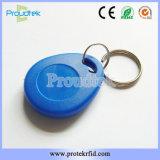 Laser di plastica su ordinazione della scheda di Keyfob di accesso dell'appartamento di affari di RFID inciso con il numero ed il marchio di serie