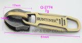 Cursore dell'accessorio dell'indumento del hardware del tenditore della chiusura lampo di colore del bronzo del metallo di modo