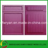 A porta de gabinete de Therfoaming do vácuo do PVC, PVC enfrentou a porta de gabinete da cozinha