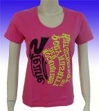 Unbelegtes Frauen-Kleidung-Eignung-Abnutzungs-Baumwollgroßhandelst-shirt