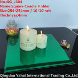 4mm Large Square Green Glass Candle Holder