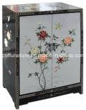 銀製の手塗りの旧式なラッカー木の家具の芸術のキャビネット