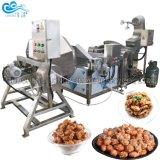 Gran eficiente Gas Chili de cacahuetes recubiertos de castañas de Cajú nueces almendras hacer máquina de procesamiento de fritura de tostado