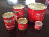 ketchup di pomodoro inscatolato 70g con il coperchio aperto facile
