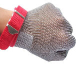El aseguramiento comercial utilizó cinco guantes de la seguridad del trabajo del carnicero de la longitud de la muñeca del dedo hechos del alambre de acero inoxidable