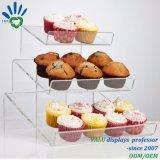 Runder Kuchen-Knall-Ausstellungsstand, Acryllutscher-Halter-Regal, Acryllutscher