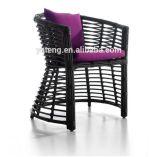 [رتّن] حديقة خارجيّ ثبت [دين تبل] مستديرة مع 4 كرسي تثبيت 4 الناس