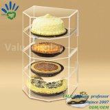 Caja de acrílico de encargo de la cabina de visualización del pan