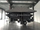 De harde Aanhangwagen van de Kampeerauto van de Vloer Voorwaartse Vouwende met Adr Certificaat