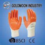 Оранжевый нитриловые перчатки с покрытием для рук