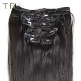 Human Hair Extensions Natural Color Remy Hair 클립 Ins Full Head 8PCS/Set Easy Clips Hair에 있는 브라질 Straight Hair Clip
