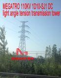 Torre de la transmisión de la tensión del ángulo ligero de la C.C. de Megatro 110kv 1d10-Sj1