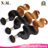 Weave surpreendente do cabelo humano do tom do brasileiro dois do cabelo da onda do abacaxi dos produtos de cabelo