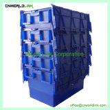 70L 저장 쌓을수 있는 콘테이너 뚜껑을%s 가진 플라스틱 이동하는 회전율 상자