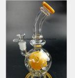 De lichtgroene, Donkergroene, Gele Pijp van de Rook van het Glas