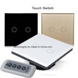 벽 스위치, 접촉 스위치, 1개의 Gang/2gang/3gang 일방통행 접촉 스크린 벽 전등 스위치, 170~240V 접촉 스크린 벽 전등 스위치