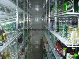 Caminhada de vidro ereta comercial da porta da loja conveniente no refrigerador do indicador