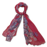 Ladies Fashion 100% soie Crepon Georgette Scarf