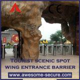 방벽 삼각 십자형 회전식 문 문을 모으는 매끄러운 입구 통제 및 운임을 다중 사용하십시오