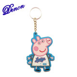 Fördernde bunte Schwein-Schlüssel-Halter, Schlüsselketten, Schlüsselringe