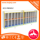 CE Standard Kids Cartoon Furniture Multi-Squared Wooden Bag Cabinets para School