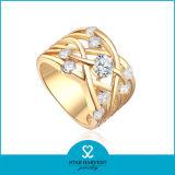 Ring van het Kostuum van het Gouden Plateren van de manier de Unieke Ontworpen (sh-R0345)