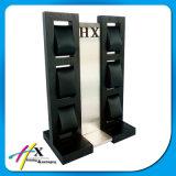 Fentes noires acryliques en bois modernes de luxe du présentoir de montre en métal 6