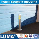 Zone de protection de la sécurité Bollard fixe en acier inoxydable avec voyant d'avertissement